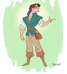 Flynn and Rapunzel by Steve Thompson Disney Movie Characters, Disney Movies, Disney Stuff, Disney And Dreamworks, Disney Pixar, Walt Disney, Prince Drawing, Rapunzel And Eugene, Disney Valentines
