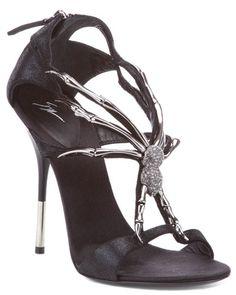 Halloween Gala / karen cox. Giuseppe Zanotti Spider Strap Leather Sandal