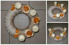 Adventní věnec střední - pomerančový Originální věnec pro Váš Adventní stůl. Korpus věnce polystyren - průměr 24 cm.
