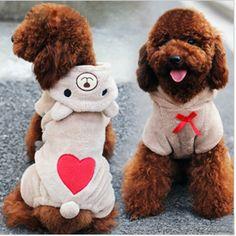 Encantador Macio Velo do Filhote de Cachorro do animal de Estimação Roupa Do Cão…