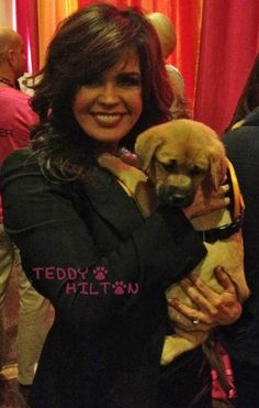 Marie Osmond adopts a puppy!