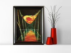 """Fantastic Digital Print from Original Painting """"Fire's Canyon"""". This beautiful digital file is from my collection of original oil painting. Abstract Digital Print 