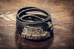 MAZE RUNNER // leather personalized bracelet // personalized leather leather bracelet The Maze Runner Dylan O'Brien Thomas Sangster Kaya Scodelario 9.80 USD #goriani