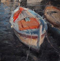 Floating in Cap Ferrat by Derek Penix Oil ~ 24 x 24