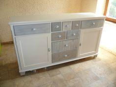 Home Staging, Decoration, Wood Furniture, Buffet, Dresser, Ikea, Storage, Recherche Google, Painted Wood