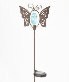 Another great find on #zulily! Blue Butterfly Solar Garden Stake #zulilyfinds