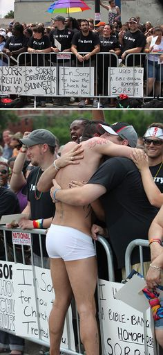 Chicago Christians Showed Up At A Gay Pride Parade To Apologize For Homophobia In The Church And The Reactions From The Parade Were Priceless