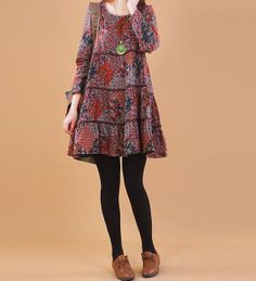 2014 Spring Cotton dress long sleeve dress by PerfectChlothing, $58.90