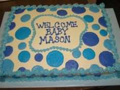 Charming Baby (boy) Shower Cake Use Chevron Instead Of Polka Dots... Pink