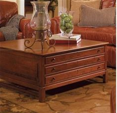 bob timberlake solid cherry collectors coffee table made usa