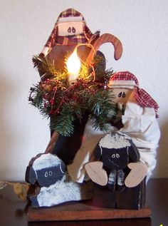 Lighted Primitive Shepherds, (saw this crafters work at a recent craft fair, just LOVE her stuff! MUST take a look at everything!)