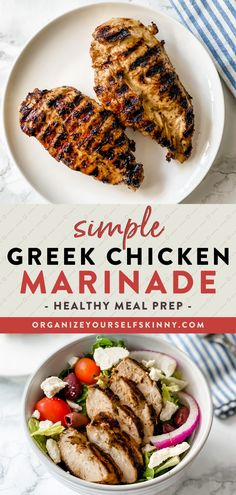 Looking for a delicious chicken marinade to use for a weekend barbecue? This Greek Chicken Marinade makes some of the best grilled chicken ever. Serve it along side your favorite greek salad, you can even use the marinade as a salad dressing! Organize Yourself Skinny Healthy Dinner Recipes | Healthy Summer Grilling Recipes Healthy Freezer Meals, Healthy Meals For Two, Healthy Recipes, Skinny Recipes, Healthy Summer, Healthy Eating, Clean Dinner Recipes, Dinner Recipes Easy Quick, Beef Recipes For Dinner