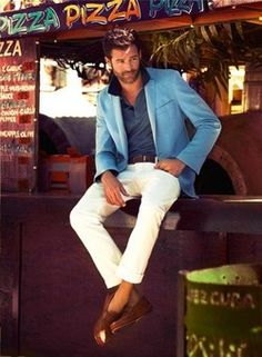 Love the jacket with white pants