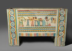 Minoan painted limestone sarcophagus, Late Minoan period