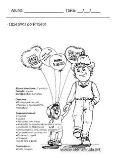 Objetivos do projeto dia dos pais 1º Ano | Pra Gente Miúda