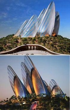 Wing Shape Zayed National Museum (Abu Dhabi, Emirados Árabes)