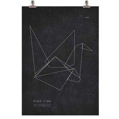 Black Crane plakat i gruppen Plakater / Plakater hos ROOM21.dk (115803)