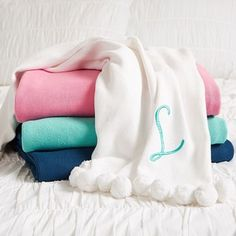 pb teen pom pom organic throw pool at pottery barn teen throw blankets