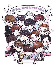 Seventeen Jun, All About Kpop, Pledis 17, Kpop Fanart, Chibi, Anime Art, Art Drawings, Geek Stuff, Fan Art