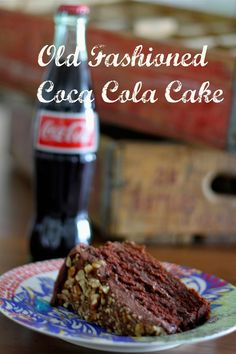 Old Fashioned Coca-Cola Cake The best one-bowl cake ever! Made with everyone's favorite drink #CocaCola #chocolate #cocacolacake
