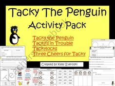 Tacky the Penguin Activity Pack product from HappilyEverAfterEducation on TeachersNotebook.com