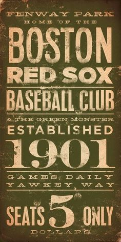 Vintage Boston Red Sox ticket