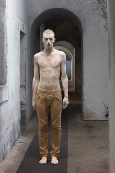 Bruno Walpoth - Mateo - cm. 180 - 2011.  carved from wood