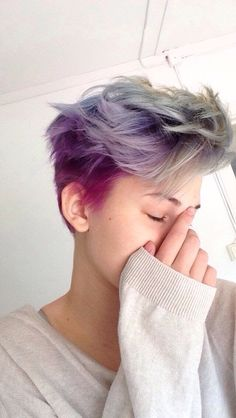 cute dyed undercut hairstyle