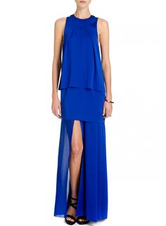Another knock out blue dress from Acne. Floor sweeping, with a stunning back split and up-to-there leg split. #colour #bright #blue #acne #style #dress