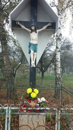Croatian neighborhood crucifix