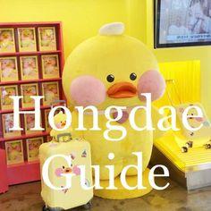 Korea Travel (All) Seoul Korea Travel, Cities In Korea, Korean Cafe, Hongdae, Line Friends, Cute Doodles, Instagram Worthy, Travel Guide, Travel Ideas