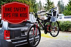 Bike Safety Tips for Kids - @autoanything Thule Parkway Bike Rack {Perfect for Spring Biking!}