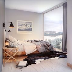 Illustration sovrum. Skiers Lodge, Trondheimsleden 44 - Bjurfors Lodges, Bedroom, Illustration, Interiors, Furniture, Home Decor, Cabins, Decoration Home, Room Decor