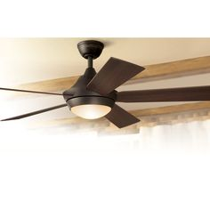 Shop Harbor Breeze Platinum Portes 52-in Aged Bronze Downrod Mount Ceiling Fan with Light Kit and Remote at Lowes.com