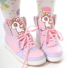 Kawaii Pastel unicorn fairy kei style sneakers shoes at sanrense.com Get 10% off at checkout with coupon code: krissykitty