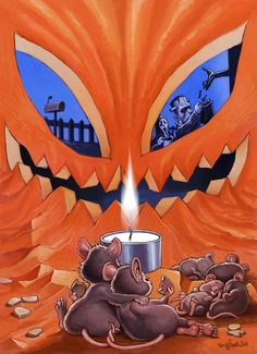 Tagged with funny, cartoon, halloween, cozy, toni greis; Halloween Kunst, Halloween Artwork, Halloween Painting, Halloween Wallpaper, Halloween Horror, Spooky Halloween Pictures, Holiday Wallpaper, Halloween Poster, Halloween Quotes