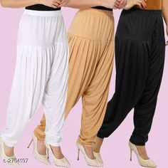 Ethnic Bottomwear - Patiala Pants Fabulous Viscose Women's Patiala Pants Combo Fabric: Viscose Waist Size : XL - Up To 24 in To Up To 32 in XXL - Up To 26 in To Up To 34 in Length: Up To 40 in Type: Stitched Description: It Has 3 Pieces Of Women's Patiala Pants Pattern: Solid Country of Origin: India Sizes Available: XL, XXL   Catalog Rating: ★4.1 (838)  Catalog Name: Kamal Fabulous Viscose Women's Patiala Pants Combo Vol 1 CatalogID_373404 C74-SC1018 Code: 974-2754197-4221