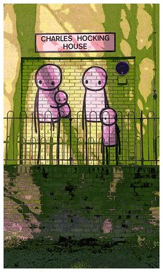 https://flic.kr/p/FbDpM9 | Stik family in residence at Charles Hocking House! | www.redbubble.com/people/timconstable