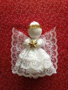 Pandahall provides craft ideas for making handmade jewelries. You can get the amazing craft idea when you buy the materials Christmas Ornaments To Make, Angel Ornaments, Handmade Ornaments, Christmas Angels, Christmas Crafts, Christmas Decorations, Glitter Ornaments, Crochet Christmas, Felt Christmas