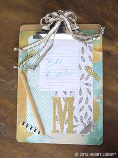 It might be an old-school office staple, but in your hands, it's art. Upcycle a clipboard with patterned paper and designer tape!