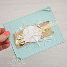 Stampin' Dolce: It's all about the details \ dragonfly dreams - Fancy Friday Blog Hop