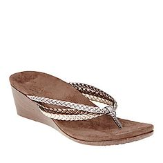 b22dce2f435 Vionic with Orthaheel Technology Ramba Thong Wedge Sandals    Casual Sandals     Shop now