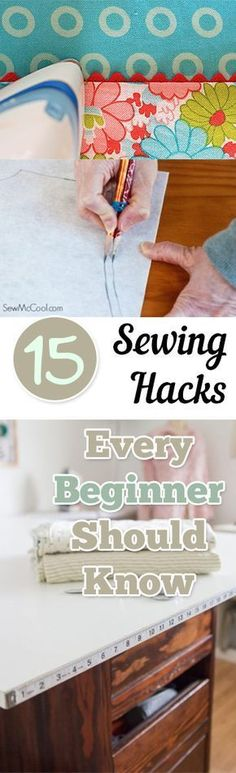 Sewing Techniques Couture Sewing Hacks Every Beginner Should Know.' (via My List of Lists) - Sewing hacks everyone should know Easy Sewing Projects, Sewing Projects For Beginners, Sewing Tutorials, Sewing Hacks, Sewing Crafts, Sewing Tips, Online Tutorials, Sewing Essentials, Crochet Tutorials