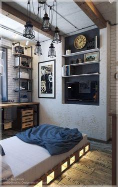 Trendy Ideas For Decor Room Boy Home Office Small Room Bedroom, Bedroom Colors, Small Rooms, Bedroom Decor, Decor Room, Narrow Living Room, New Room, Apartment Living, House Design