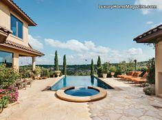 Elegance with a view #luxury #home #house #backyard #pool #patio #design #ideas