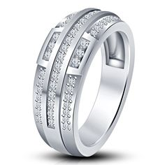 Beautiful Bridal Wedding Anniversary Women's Band Ring in 925 Sterling Silver #EngagementBand