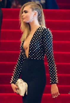 cara delevingne met ball 2013 - absolutely in love with that studded creation <3