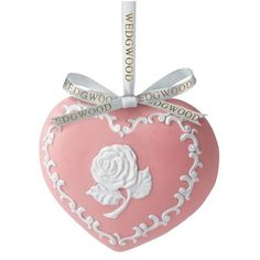 Wedgwood Breast Cancer Heart Decoration