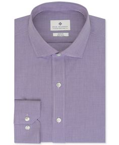 Ryan Seacrest Distinction Non-Iron Slim-Fit Houndstooth Dress Shirt