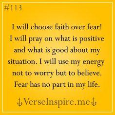 no fear.